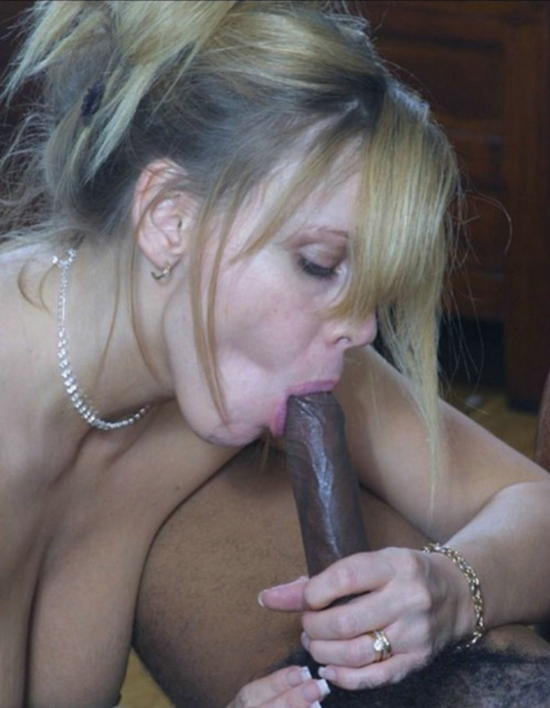 White Mom Sucks Black Dick