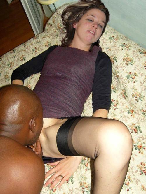 Black Licking Pussy White