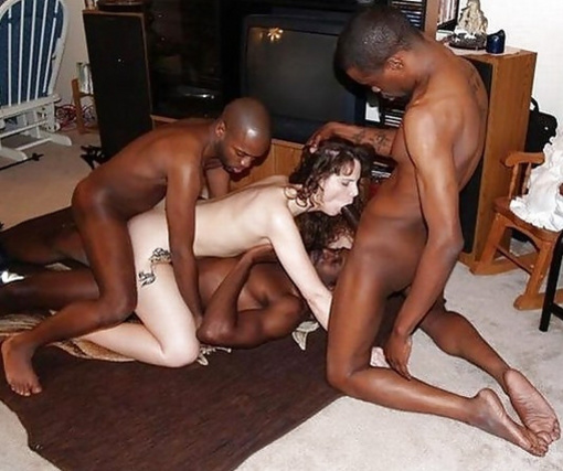 White Girl Black Guy Orgy